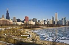 芝加哥冬天 库存照片