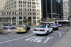 芝加哥出租汽车区域 图库摄影