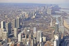 芝加哥北部s海岸线 库存照片