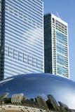 芝加哥千年公园摩天大楼 库存照片
