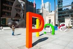 芝加哥和毕加索 免版税图库摄影