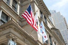 芝加哥国旗  图库摄影