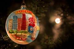芝加哥圣诞节装饰品 库存照片
