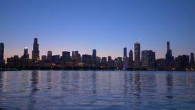 芝加哥在晚上-芝加哥美好的地平线  美国- 2019年6月11日 股票视频