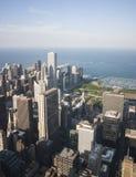 芝加哥地平线和密执安湖 库存图片