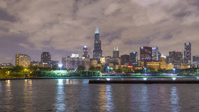 芝加哥地平线在日落以后的 股票录像