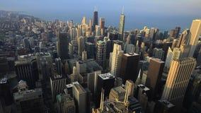 芝加哥地平线的鸟瞰图 股票录像