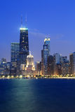 芝加哥地平线部分视图  免版税库存图片