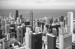 芝加哥地平线鸟瞰图 免版税库存图片