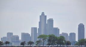 芝加哥地平线 免版税图库摄影