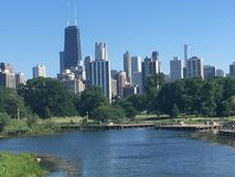芝加哥地平线 免版税库存照片