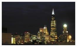 芝加哥夜间 免版税图库摄影