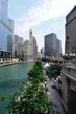 芝加哥室外露台餐馆 库存图片