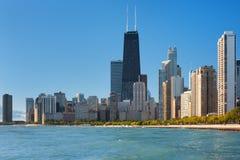 芝加哥密执安湖视图 库存照片