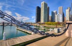 芝加哥小游艇船坞 免版税库存照片