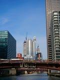 芝加哥市,从河的看法 免版税库存图片
