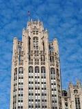 芝加哥建筑学,哥特式复兴论坛塔 库存图片