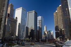芝加哥推进东部wacker 库存图片