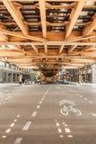 芝加哥摘要建筑学视图 免版税图库摄影