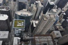 芝加哥摩天大楼从上面 免版税库存图片