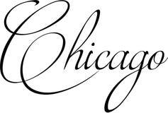 芝加哥文本标志例证 免版税库存图片