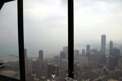 芝加哥日有雾的副南部 免版税库存照片