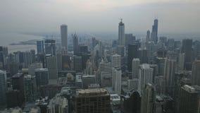 芝加哥日落 股票录像