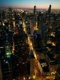 芝加哥日落 库存照片