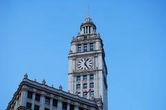 芝加哥时钟伊利诺伊塔 免版税库存图片