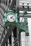 芝加哥时钟 库存照片