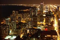 芝加哥晚上 免版税库存照片