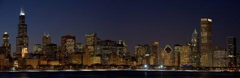 芝加哥晚上 图库摄影