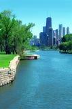 芝加哥林肯公园摩天大楼 库存图片