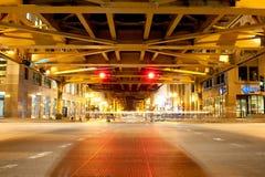 芝加哥桥梁街市 库存照片