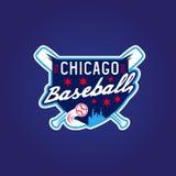 芝加哥棒球葡萄酒体育徽章,传染媒介 免版税图库摄影