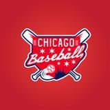 芝加哥棒球葡萄酒体育徽章,传染媒介 免版税库存照片