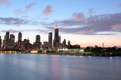 芝加哥水平的s地平线视图 免版税库存图片
