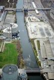 芝加哥水路 库存图片