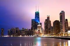 芝加哥江边 免版税库存图片