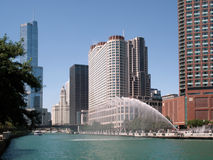 芝加哥河 免版税库存照片