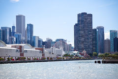 芝加哥海军码头 库存照片