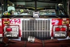 芝加哥消防车 免版税库存照片