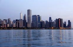芝加哥清早地平线 免版税图库摄影