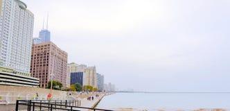 芝加哥湖边平地 库存照片