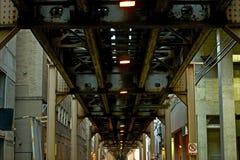 芝加哥火车桥梁 库存图片