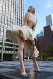 芝加哥玛里琳・门罗雕象 库存图片