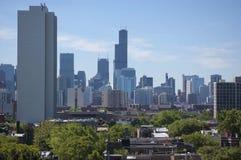芝加哥白天地平线视图 免版税库存照片