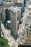 芝加哥的丹尼尔设计的Flatiron大厦伯翰姆 免版税库存图片