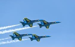 芝加哥空气和水展示,美国海军蓝色天使 库存图片