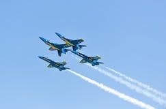 芝加哥空气和水展示,美国海军蓝色天使 图库摄影